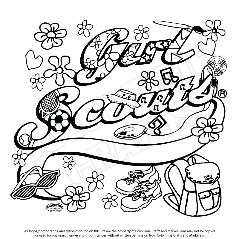 800x800 Girl Scouts Coloring Pages Girl Scout Ribbon Coloring Pages Girl