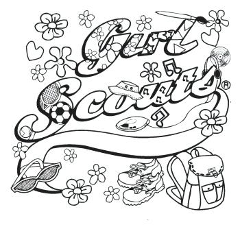 350x350 Plain Decoration Girl Scout Coloring Pages Daisy Girl Scout