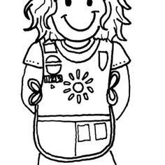236x236 Brownie Girl Scout Coloring Pages