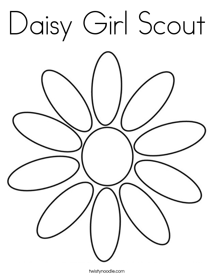 685x886 Daisy Girl Scout Coloring Page