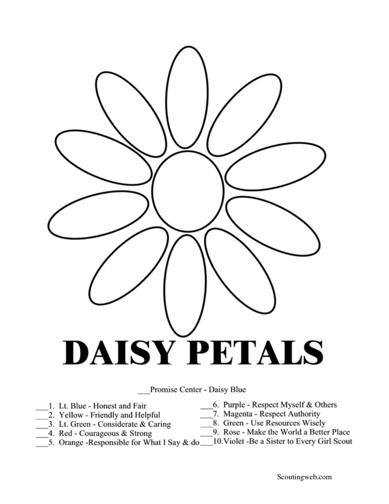 1275x1650 Daisy Girl Scout Coloring Pages