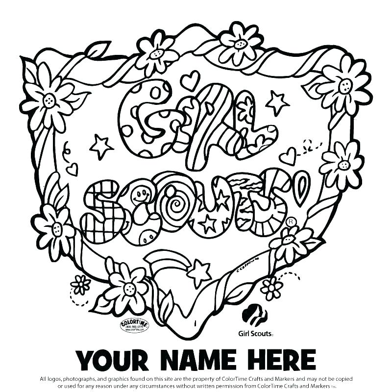 800x800 Years Of Girl Scouts Coloring Pages Printable Coloring Daisy