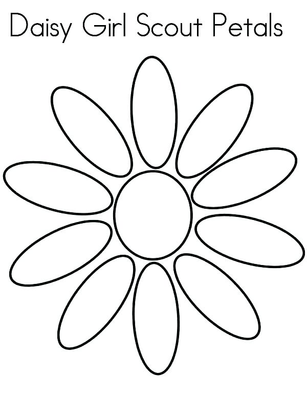 600x776 Daisy Petal Coloring Page Daisy Flower Daisy Girl Scout Petals