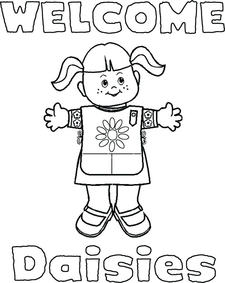736x925 Girl Scout Daisy Coloring Pages Daisy Petal Coloring Page Girl