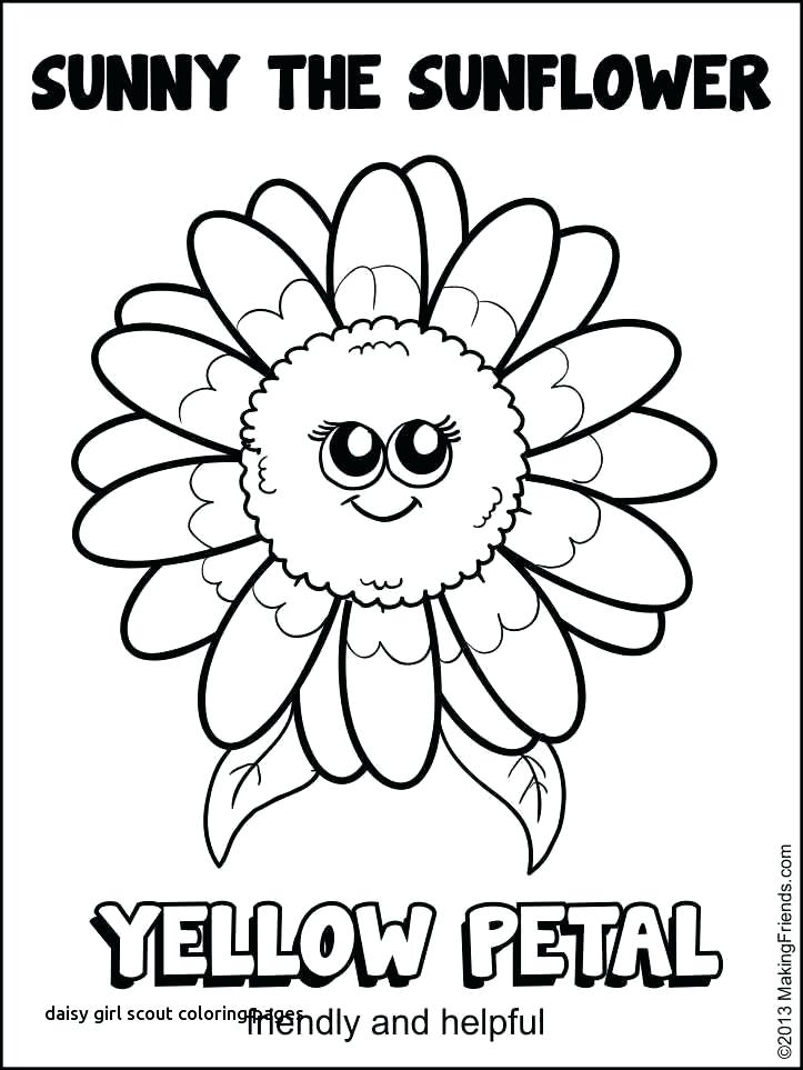 723x963 Girl Scout Daisy Coloring Pages Girl Scout Daisy Petal Coloring