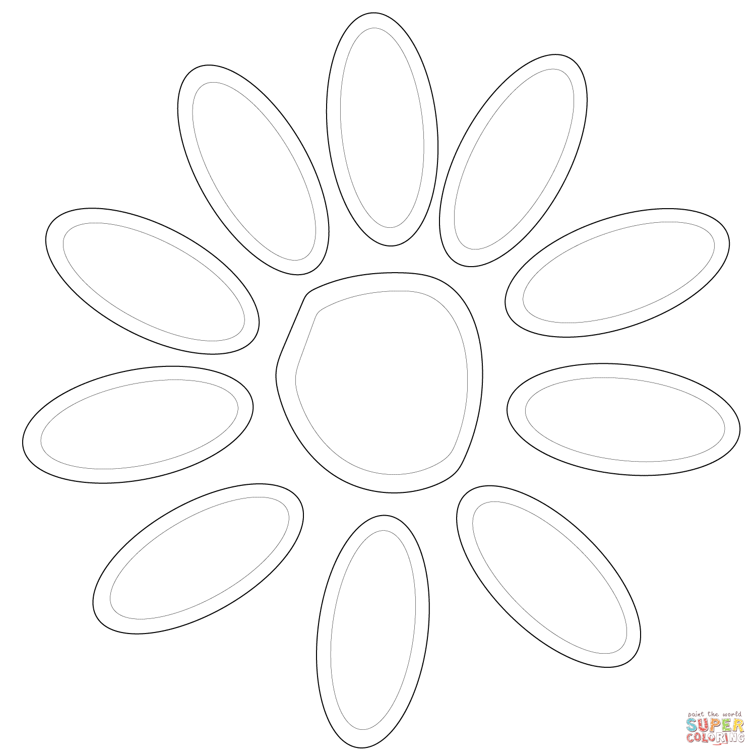 1500x1500 Girl Scout Daisy Petals Coloring Page Free Printable Pages