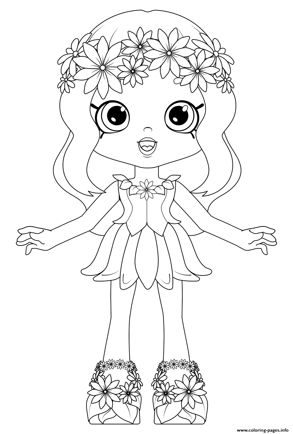 1024x1516 Shoppies Dolls Daisy Petals Coloring Pages Printable