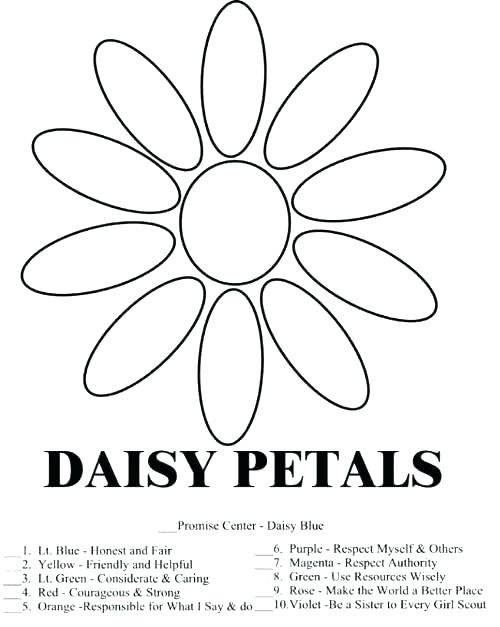 500x627 Daisy Petal Coloring Pages