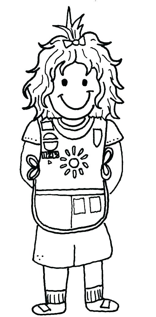 510x1035 Coloring Pages For Girl Scouts Girl Scout Coloring Pages Holiday