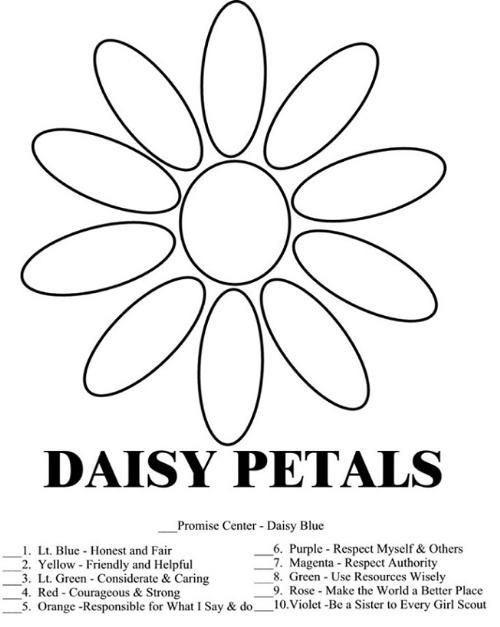 500x627 Daisy Girl Scout Law Promise Coloring Pages Free Coloring