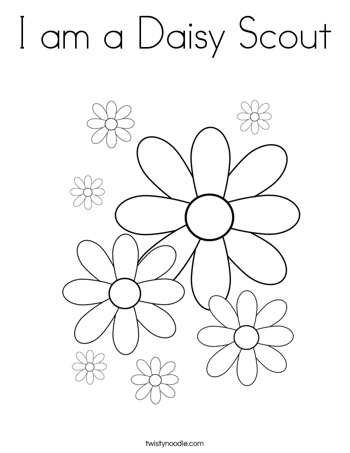 685x886 I Am A Daisy Scout Coloring Page