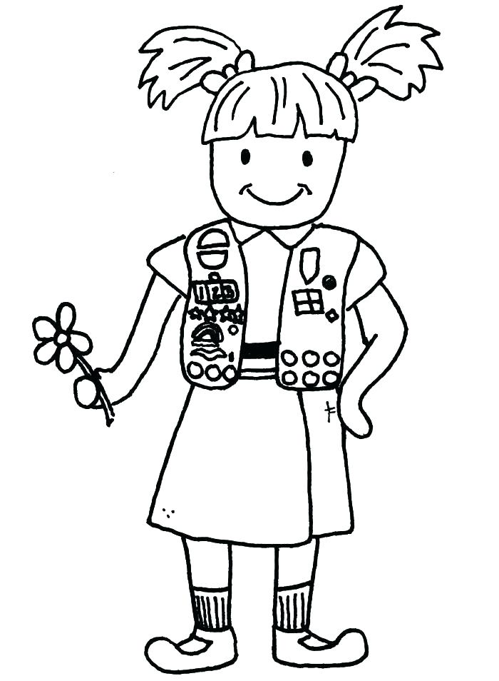 700x954 Scout Coloring Pages Girl Scout Cookie Coloring Pages Girl Scouts