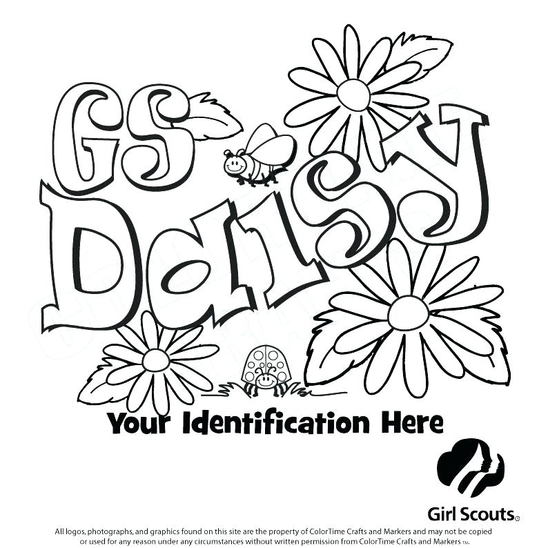 794x794 Daisy Coloring Pages Scouts Daisy Coloring Pages Scout Coloring