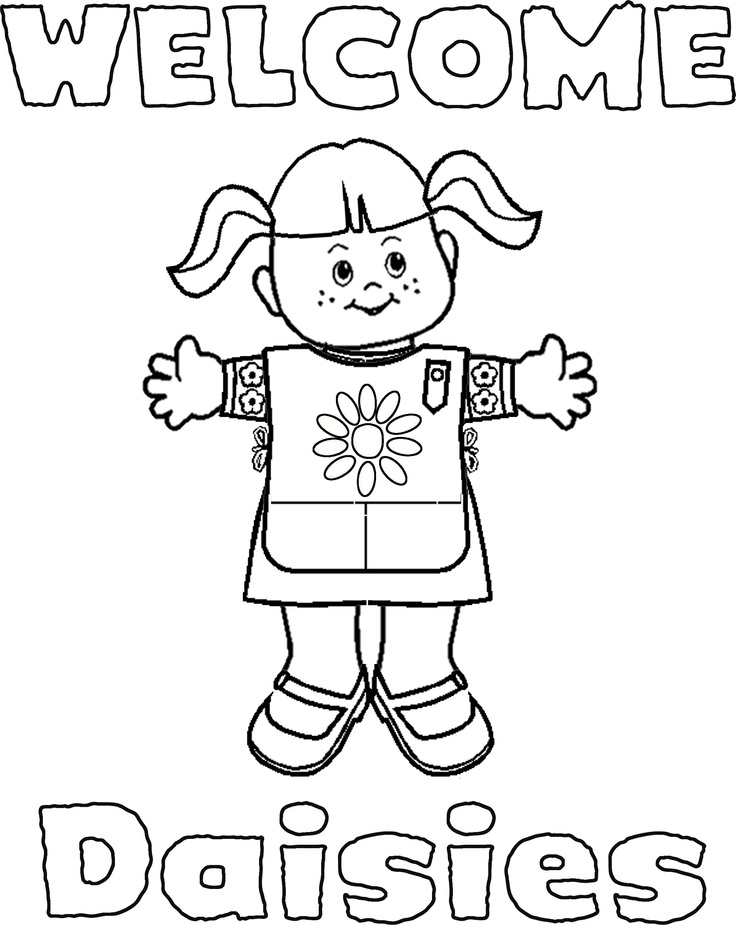 736x925 Girl Scout Daisy Coloring Pages Scout Daisy Coloring Pages