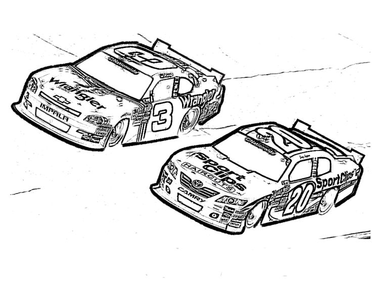 Dale Earnhardt Coloring Pages