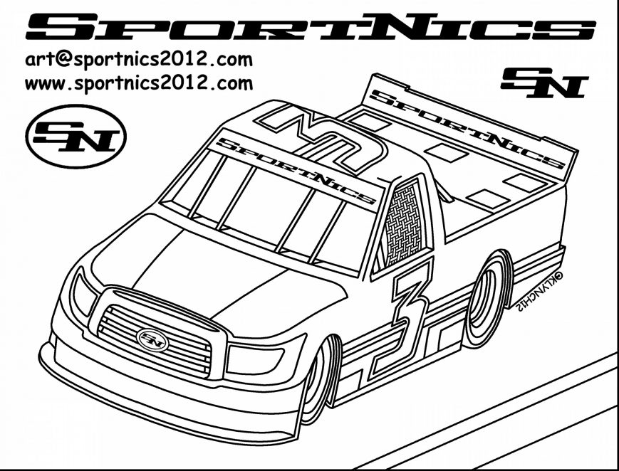 869x662 Nascar Coloring Pages Image Design Free Printable Cars