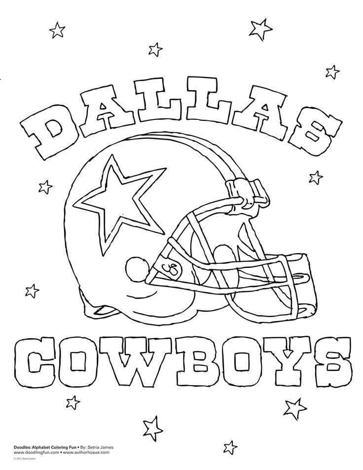 Dallas Cowboys Coloring Pages