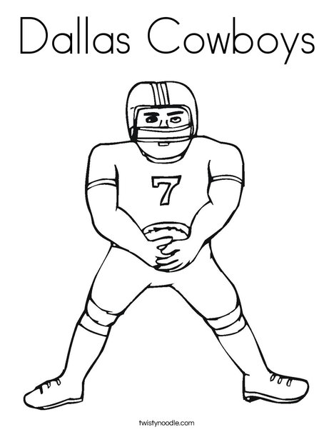 468x605 Dallas Cowboys Coloring Page