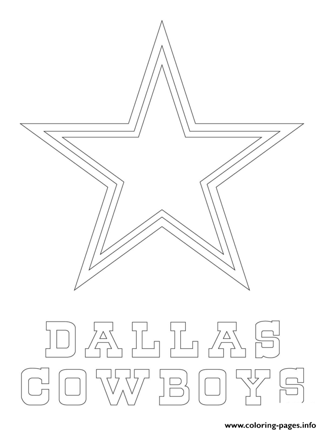 640x853 Dallas Cowboys Logo Football Sport Coloring Pages Printable