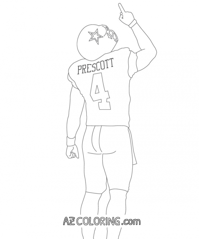 Dallas Cowboys Coloring Pages To Print At Getdrawings Free Download