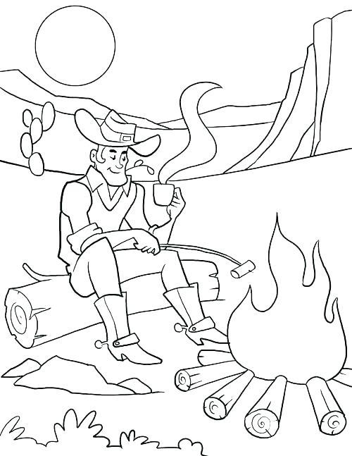 500x647 Cowboy Coloring Pages Printable Cowboys Coloring Page Cowboy