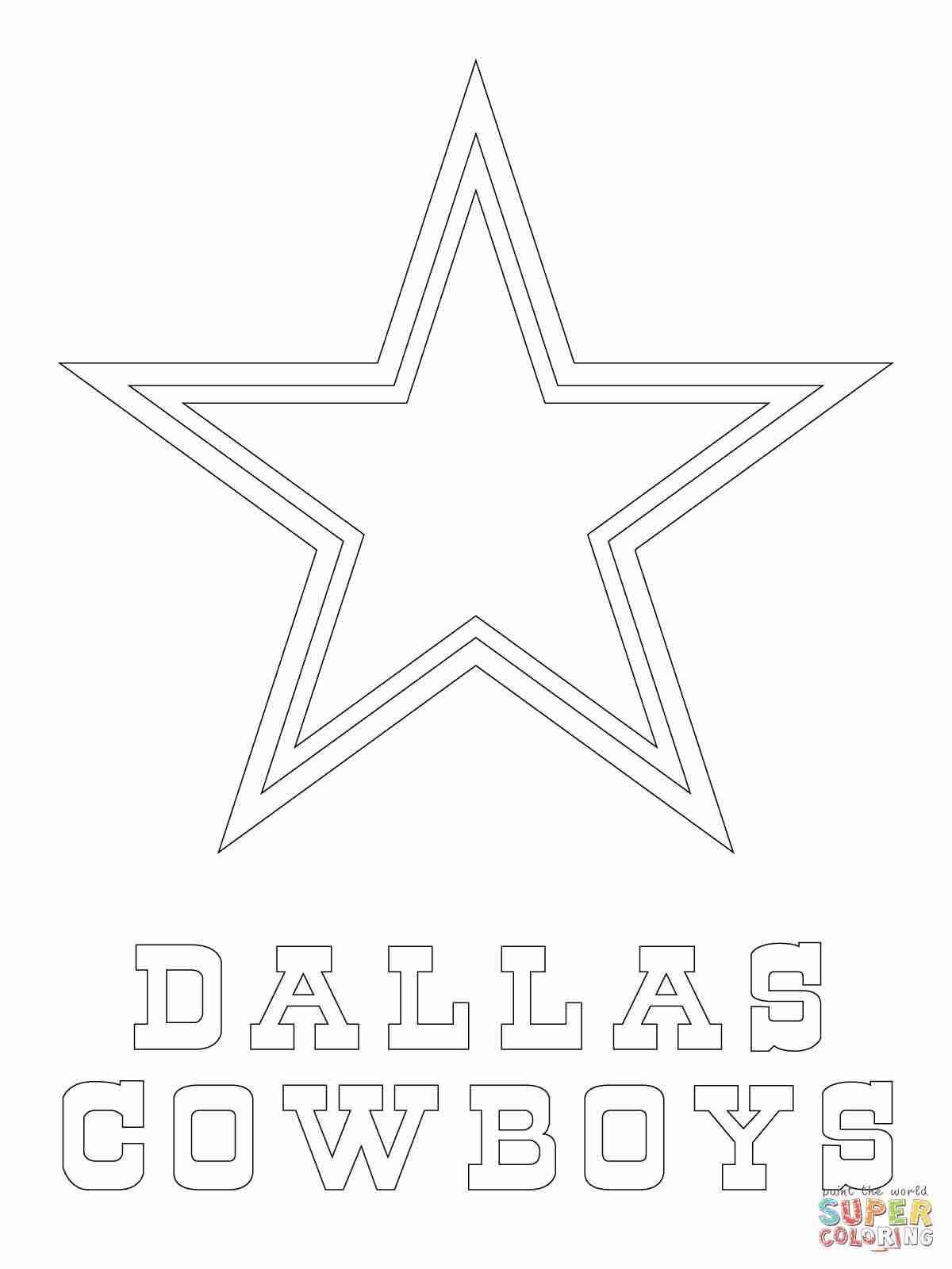 1200x1600 Dallas Cowboys Logo Coloring Page Free Printable Pages Incredible
