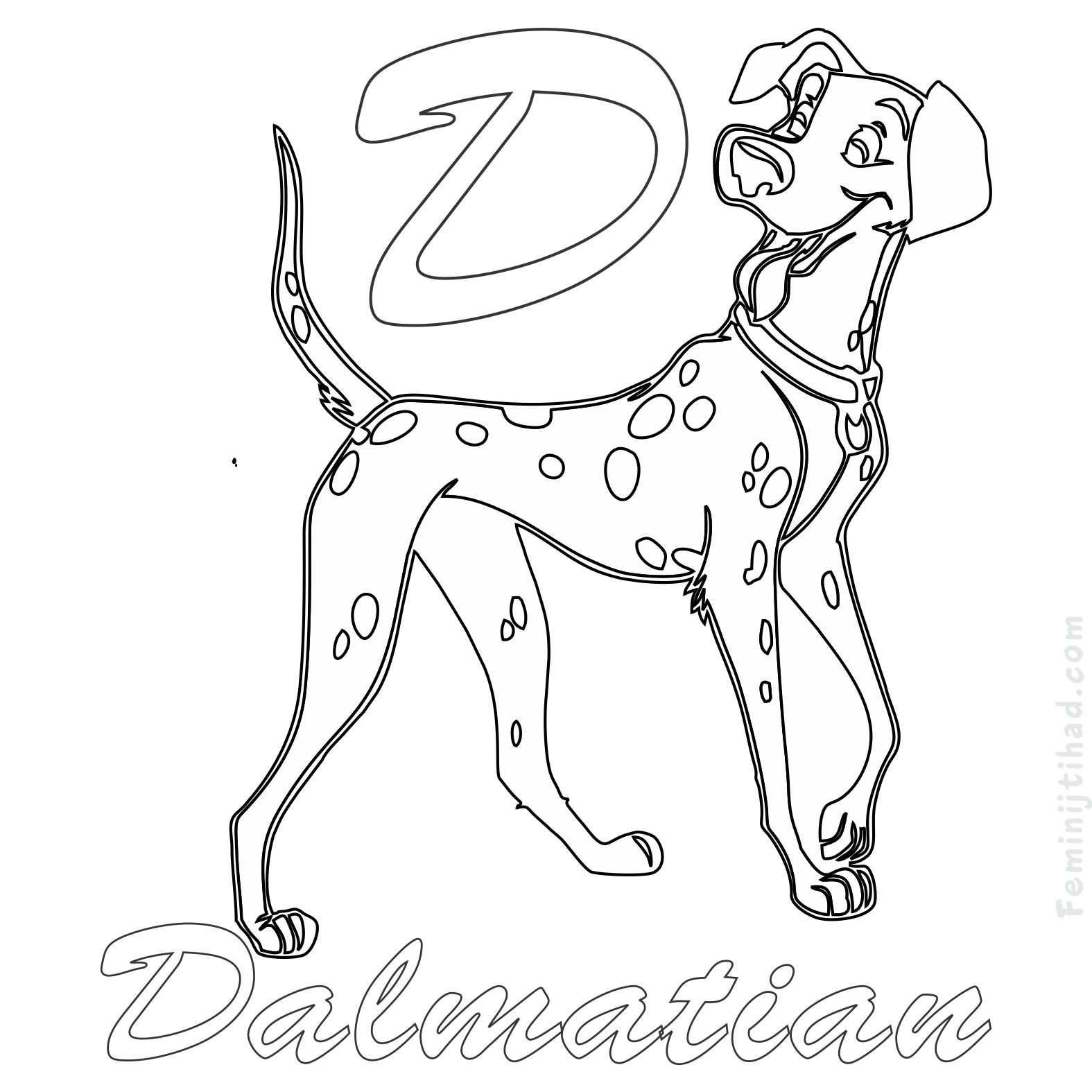Dalmation Dog Coloring Page at GetDrawings | Free download