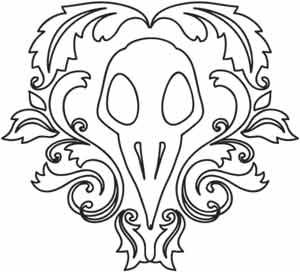 300x272 Dark And Natural, This Bird Skull Surrounded