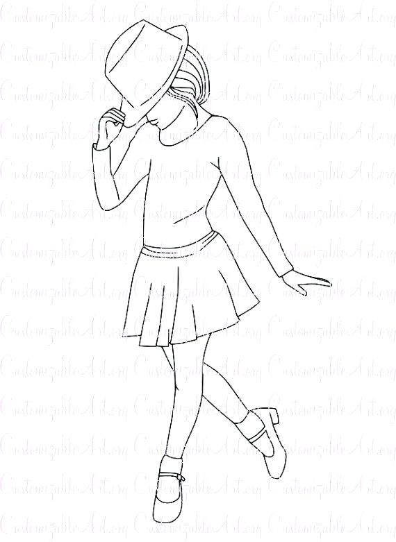 570x781 Dancer Coloring Pages Dance Coloring Page Dance Coloring Pages