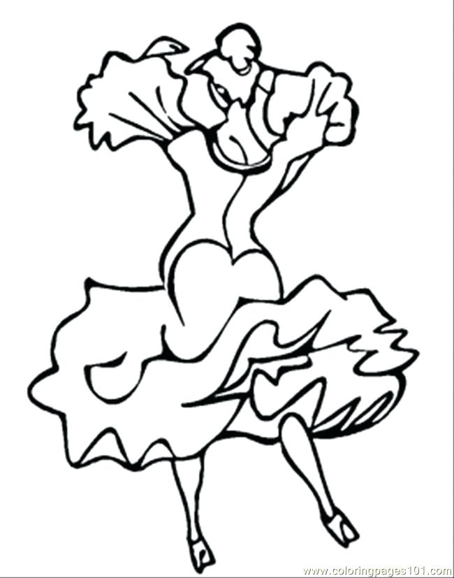 650x827 Dance Coloring Pages Ballerina With Ponytail Coloring Page Dance