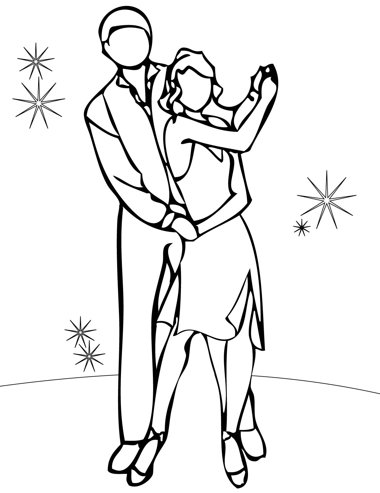 1275x1650 Dance Coloring Pages Free To Print