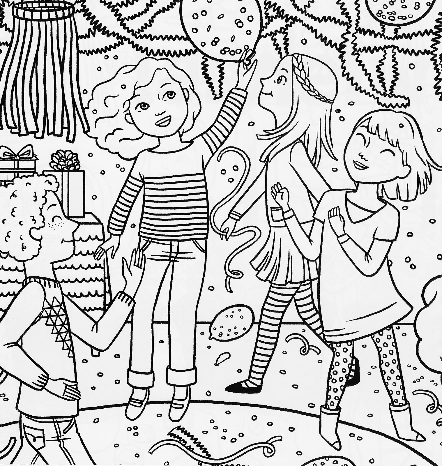 1518x1600 American Girl Coloring Pages American Girl Birthday Party Coloring