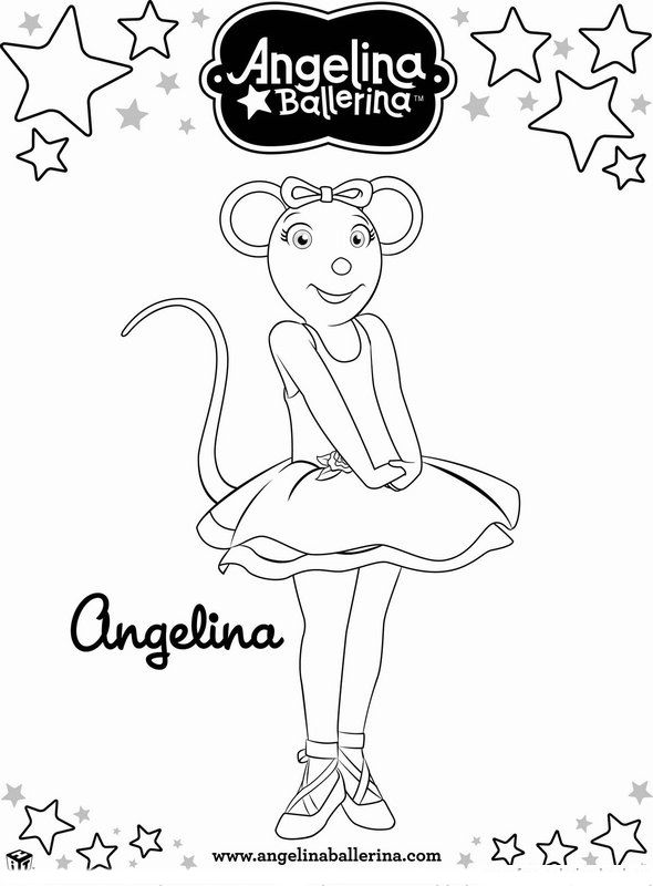 590x800 Angelina Ballerina Coloring Pages Maddie Bday
