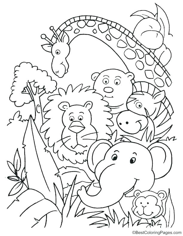 612x792 Jungle Coloring Sheets Is Dancing The Jungle Book Coloring Page