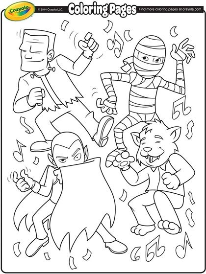 420x560 Monsters Coloring Page Color My World Monsters