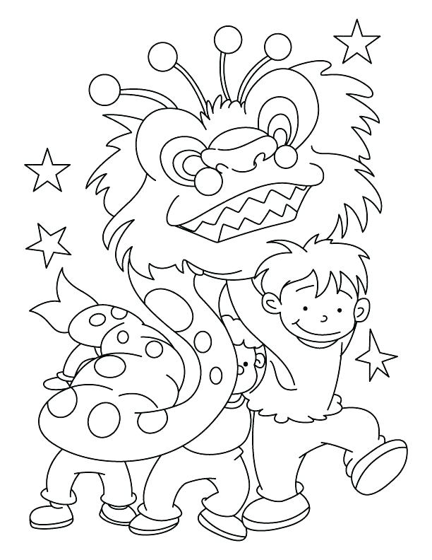 612x792 New Year Coloring Page Dragon Dance Party Colouring Pages Colori