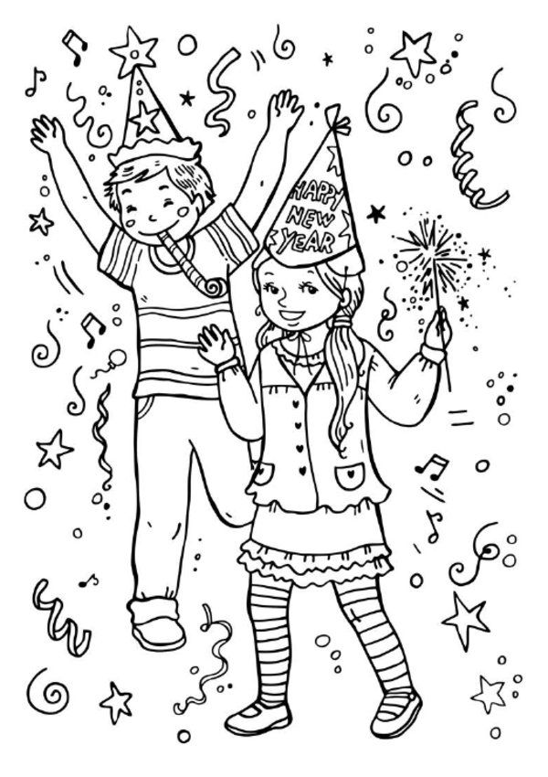 600x850 New Year Coloring Pages Picture Coloring Pages