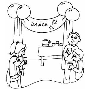 300x300 School Dance Party Coloring Sheet