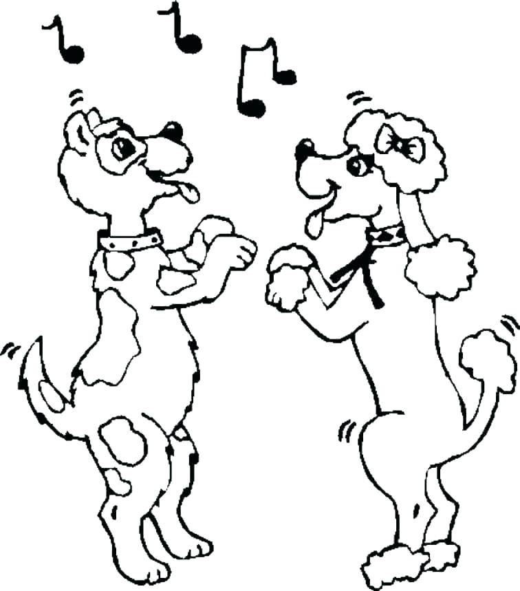 756x859 Dance Coloring Pages