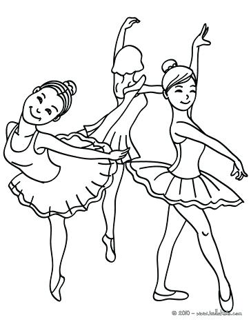 364x470 Dance Coloring Page Group Of Young Ballet Dancers Coloring Page