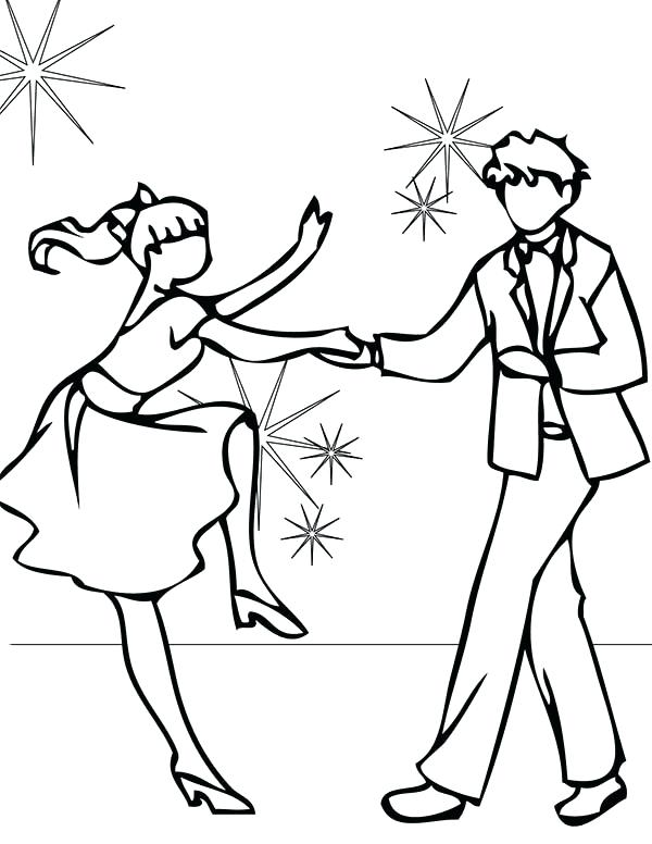 600x776 Dance Coloring Page Group Of Young Ballet Dancers Dance Party