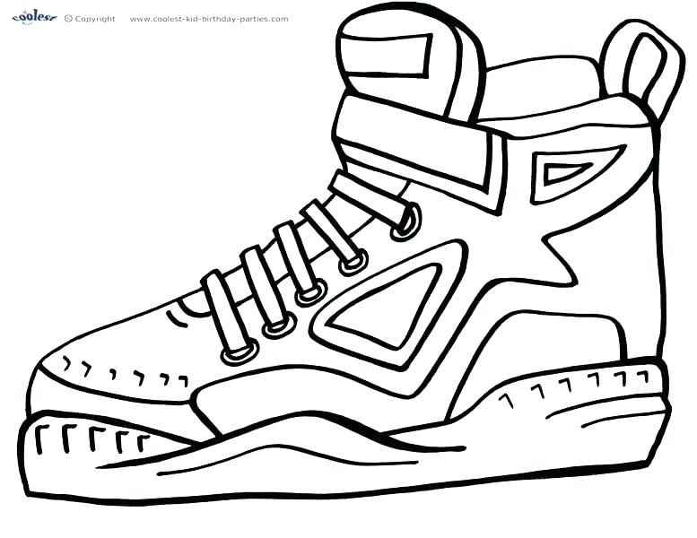 777x600 Dance Shoes Colouring Pages Basketball Color Page Coloring