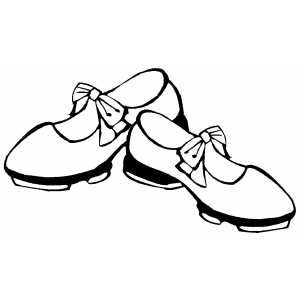 300x300 Dancing Shoes Coloring Page Dance Dancing Shoes