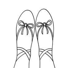 220x220 Toe Ballet Shoe Coloring Pages