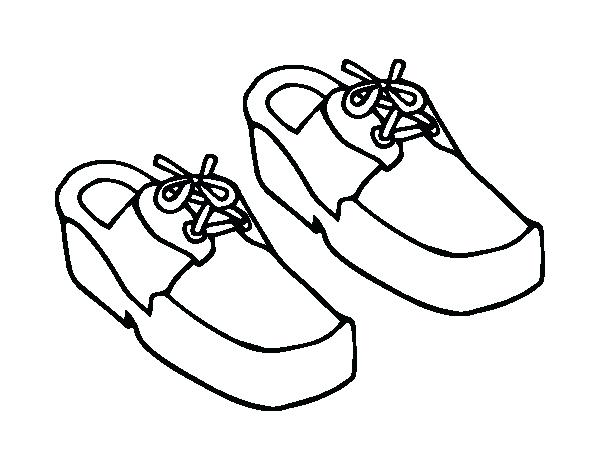 600x470 Shoes Coloring Page