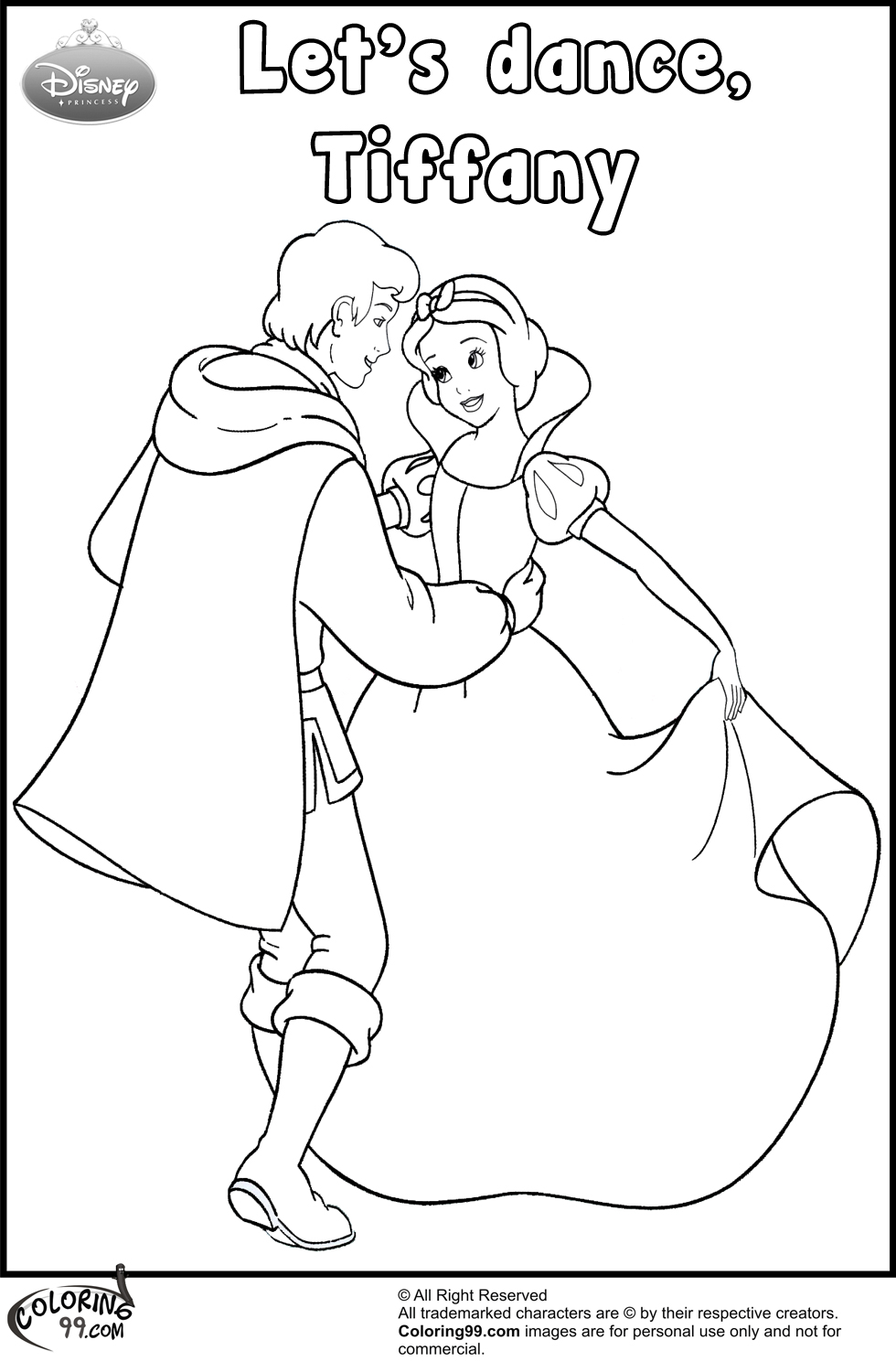 980x1500 Snow White And The Prince Coloring Pages Team Colors