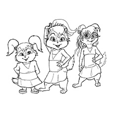 230x230 Top Free Printable Alvin And The Chipmunks Coloring Pages Online