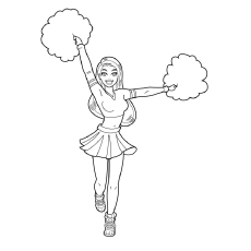 230x230 Beautiful Free Printable Cheerleading Coloring Pages Online