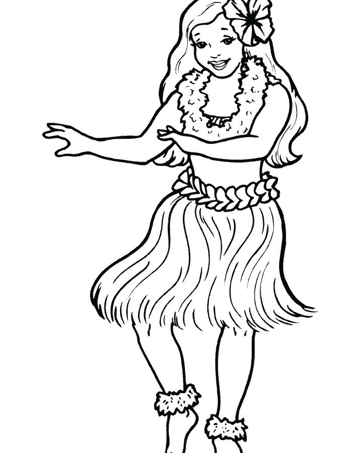 Dancing Girl Coloring Pages