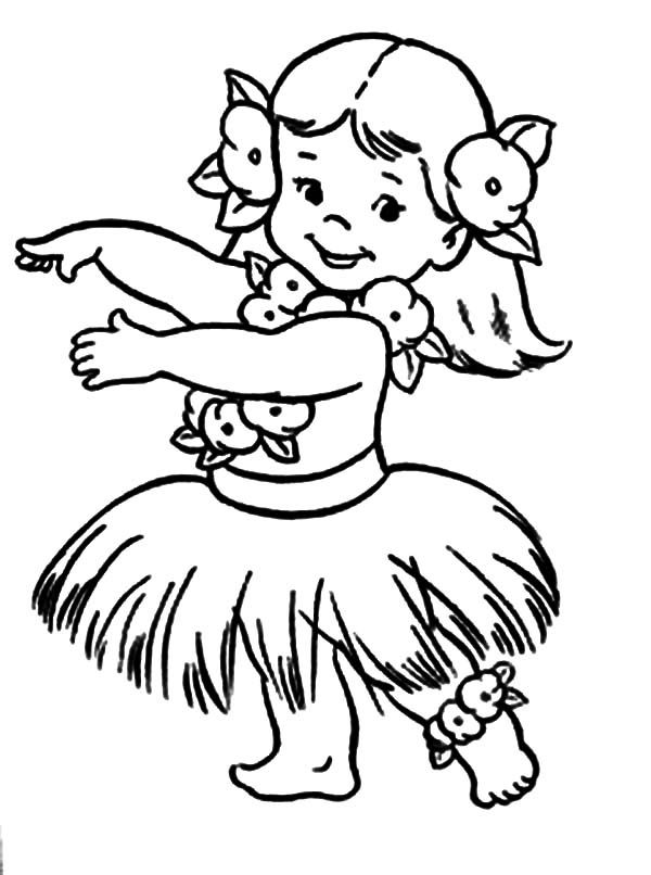 600x806 Comely Hula Girl Coloring Page Colouring For Beatiful Innovative